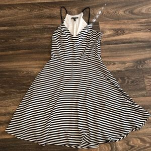 Express Black and White Stripe Dress